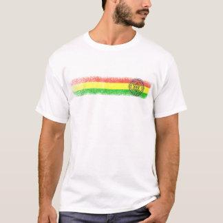 Camiseta Estrela e cruz da reggae de Rasta