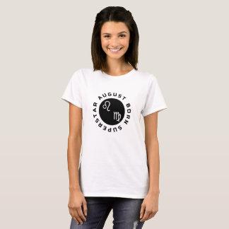Camiseta Estrela mundial do nascer de agosto