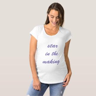 Camiseta Estrela na parte superior da maternidade da