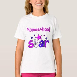 Camiseta Estrela roxa de Homeschool