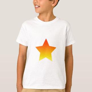Camiseta Estrela vermelha/alaranjada