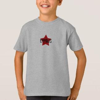 Camiseta Estrela vermelha no T cinzento dos SS