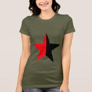 Camiseta Estrela vermelha & preta no verde do exército da
