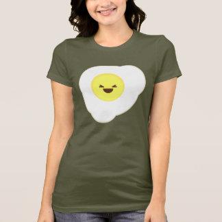 Camiseta estrelado do ovo do kawaii