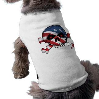 Camiseta Estrelas & crânio das listras