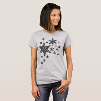 Camiseta Estrelas da fantasia 3 D