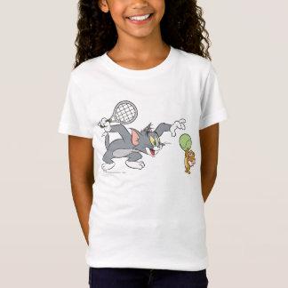 Camiseta Estrelas de tênis 2 de Tom e de Jerry