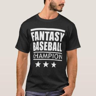 Camiseta Estrelas do campeão do basebol da fantasia