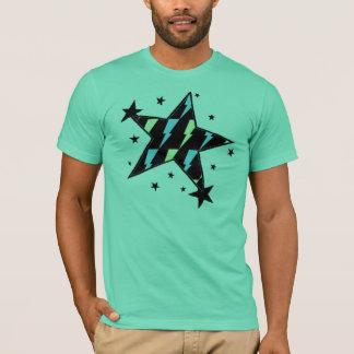 Camiseta estrelas do parafuso de relâmpago