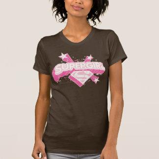 Camiseta Estrelas e logotipo de Supergirl