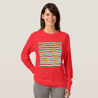 Camiseta Estrelas em listras do Natal