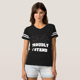 Camiseta Estrelas orgulhosa eu estou o t-shirt escuro