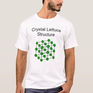 Camiseta Estrutura de cristal da alface