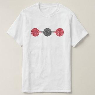 Camiseta Estrutura molecular de dióxido de carbono