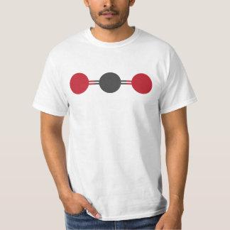 Camiseta Estrutura molecular do CO2