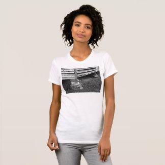 Camiseta Estrutura preto e branco do vintage
