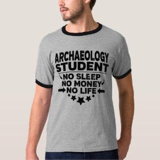 Camiseta Estudante universitário da arqueologia nenhuma