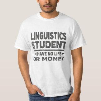 Camiseta Estudante universitário da linguística nenhum vida