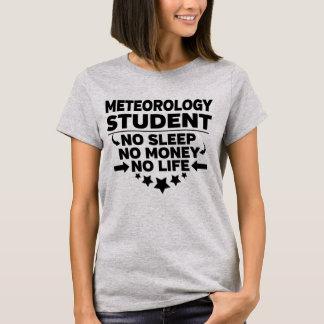 Camiseta Estudante universitário da meteorologia nenhum