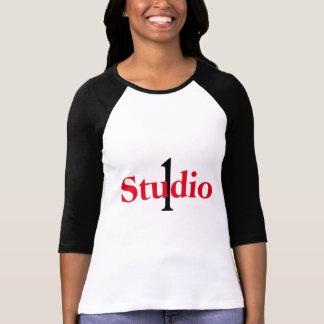 Camiseta Estúdio 1 3/4 de t-shirt do comprimento