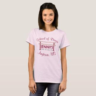 Camiseta Estúdio personalizado da escola de dança da barra