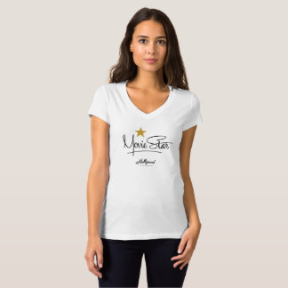 Camiseta Estúdios de Hollywood - estrela de cinema fêmea