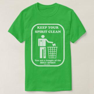 Camiseta esverdeie, mantenha seu espírito limpo, t-shirt