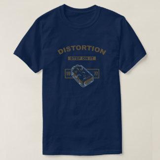 Camiseta Etapa de distorção nele azul/ouro 1977