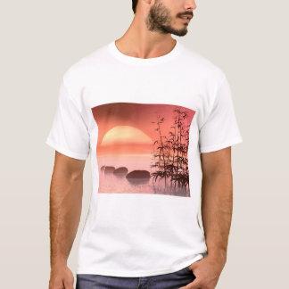 Camiseta Etapas asiáticas ao sol - 3D rendem