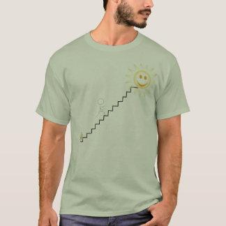 Camiseta etapas, homem da vara, cerveja, sol