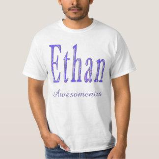 Camiseta Ethan, nome de Awesomeness, logotipo, t-shirt do