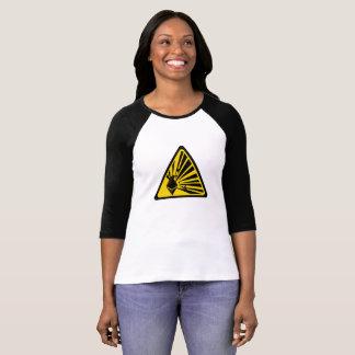 Camiseta Ethereum Bella+T-shirt do Raglan da luva das