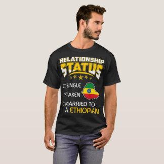 Camiseta Etíope casado tomado solteiro do estado da relação