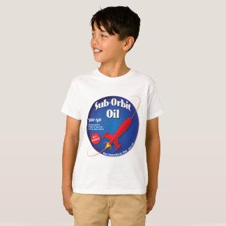 Camiseta Etiqueta azul do óleo secundário da órbita