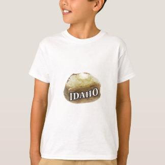 Camiseta Etiqueta da batata de Idaho