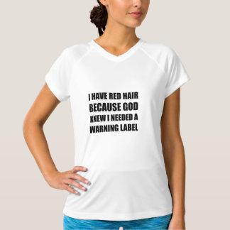 Camiseta Etiqueta de advertência do cabelo principal