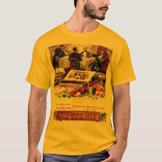 Camiseta Etiqueta de jogo do charuto do póquer do despedida