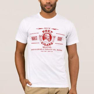 Camiseta Etiqueta do anúncio do charuto do poeta do vintage