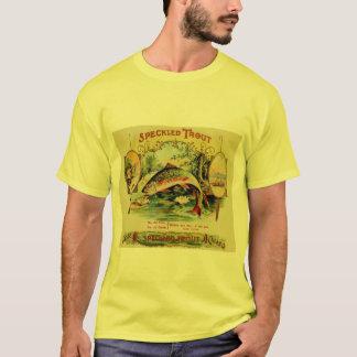 Camiseta Etiqueta do charuto da pesca dos peixes da truta