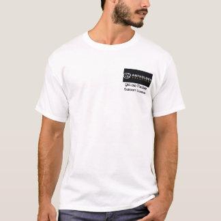 Camiseta Etiqueta do preto de ASI, guerreiro amarelo de