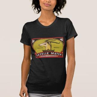 Camiseta Etiqueta sueco da caixa de fósforos da gazela