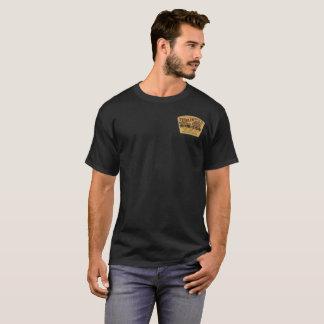 Camiseta Etiqueta velha do vintage do uísque da cabana