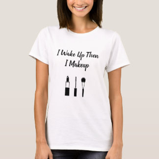 Camiseta Eu acordo-me então composição