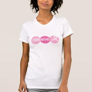 Camiseta Eu acredito - a consciência do cancro da mama