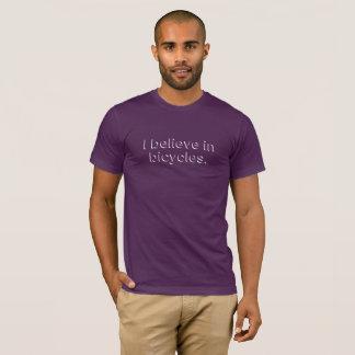 Camiseta Eu acredito nas bicicletas