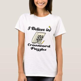 Camiseta eu acredito nas palavras cruzadas