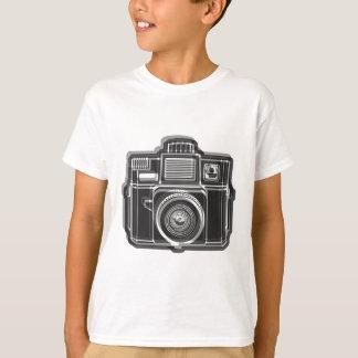Camiseta Eu ainda disparo no preto do logotipo do filme