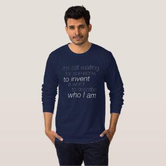 """Camiseta """"Eu ainda estou esperando"""" o T de questão da luva"""