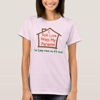 Camiseta Eu ainda vivo com meus pais mas pago o aluguel