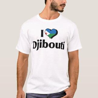 Camiseta Eu amo a bandeira de Djibouti